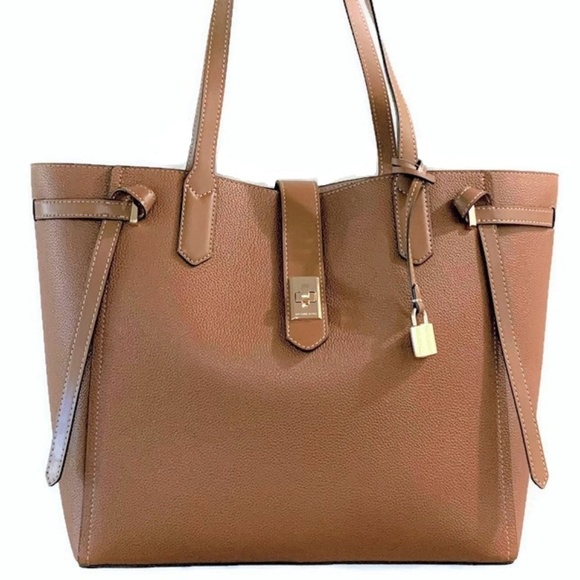 db8dd21a47d5 Michael Kors Bags | Cassie Large Leather Tote Brown Nwt | Poshmark